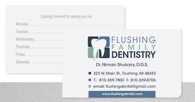 Visitenkarten Design für Flushing Family