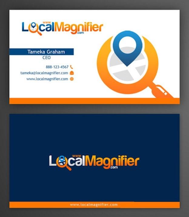 Visitenkarten Design für Local Magnifier