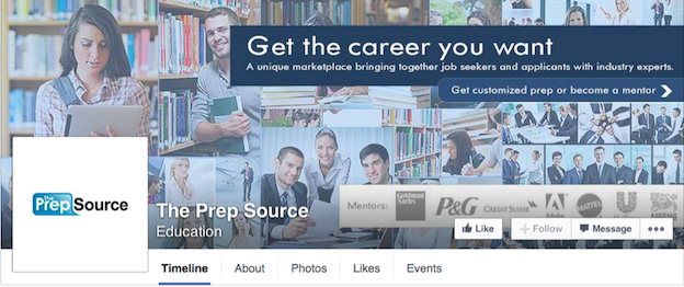 The Prep Source Facebook cover
