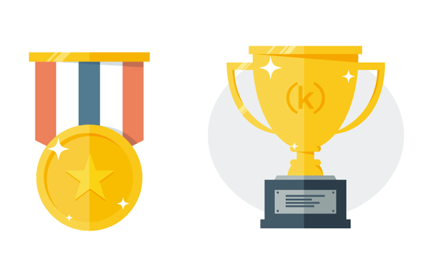 Trophy and medal icons
