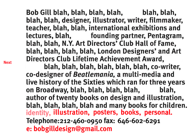 Bob Gill portfolio website