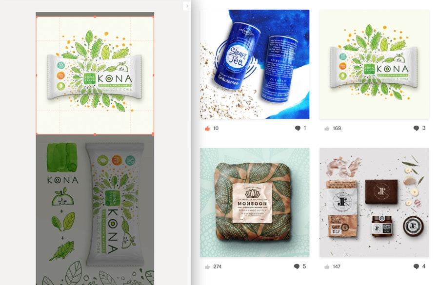 cropping 99designs portfolio