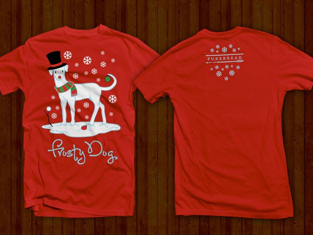 Contest Christmas Dog T Shirt Design