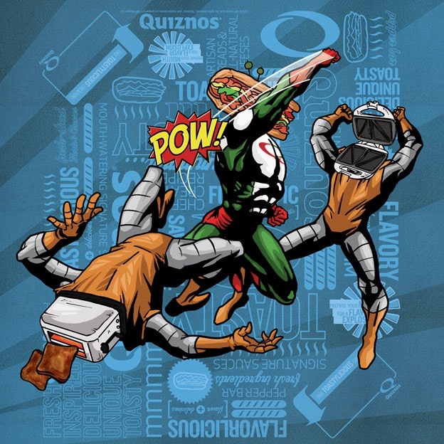 Quiznos comic book