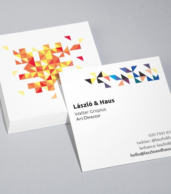 MOOs Quadratische Visitenkarten