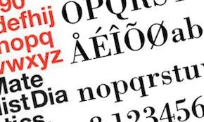 8種類の定番フォントと制作した書体デザイナー
