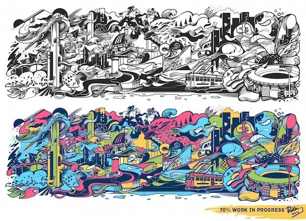 wall mural illustration