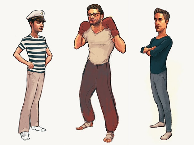 Illustrate the team members of a web development startup