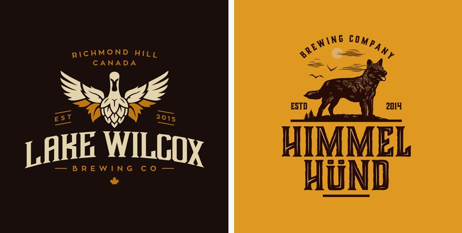 vintage brewery logos