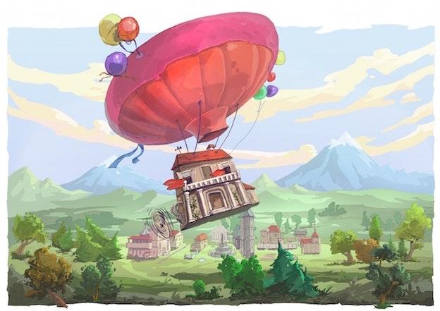 hot air balloon illustration