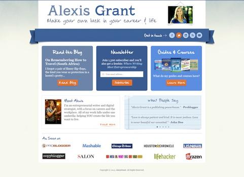 Design pour Alexis Grant