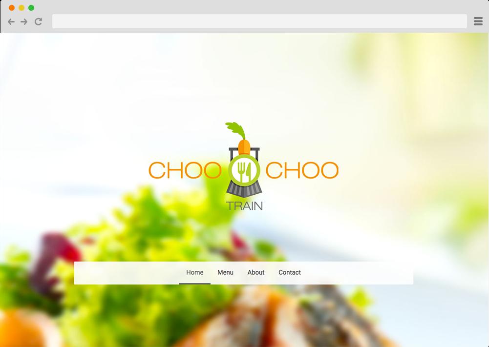 Site internet avec logo Choo Choo