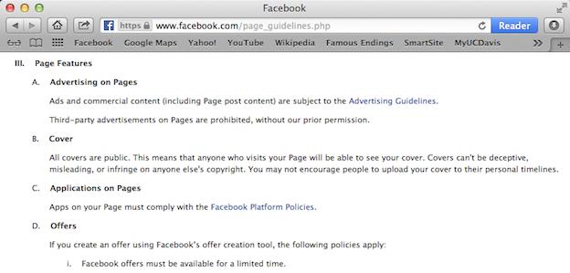 Facebook Nutzungsbedingungen