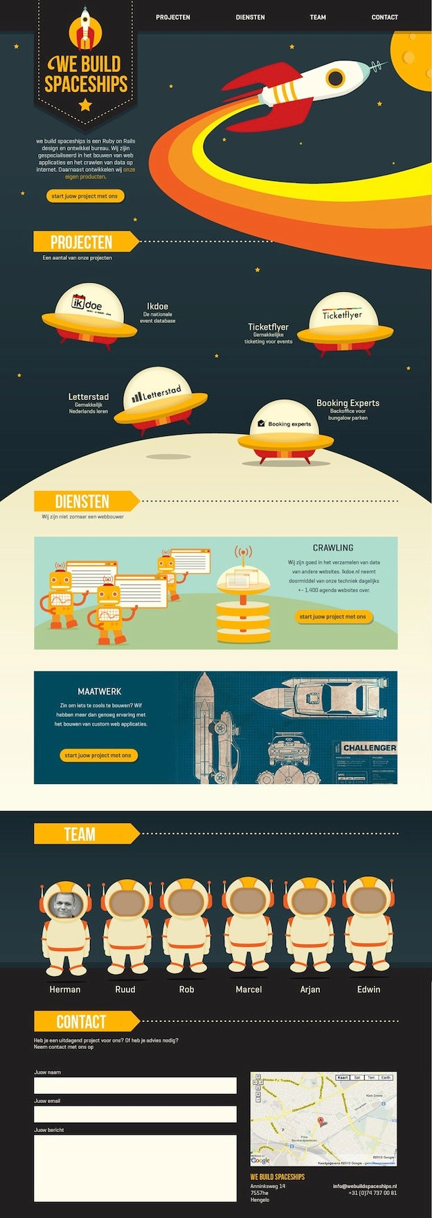 Webdesign von sundayrain