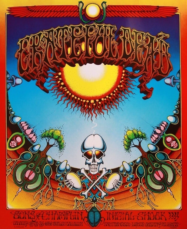 grateful dead psychedelic poster