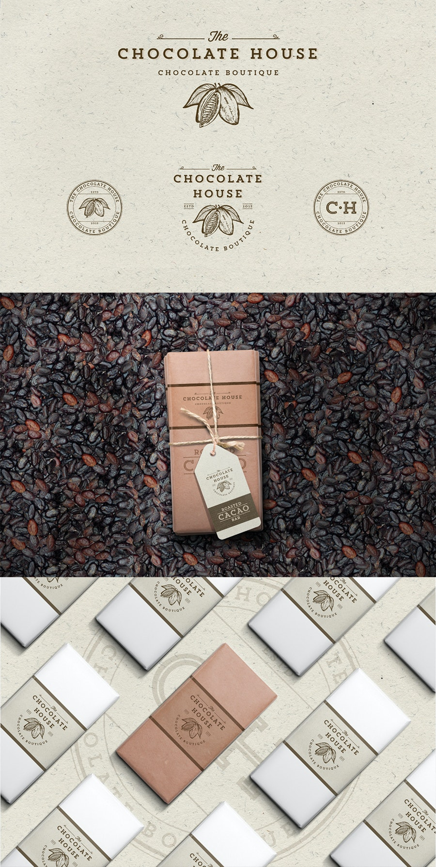 The Chocolate House branding