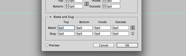 how to make bleed in indesign