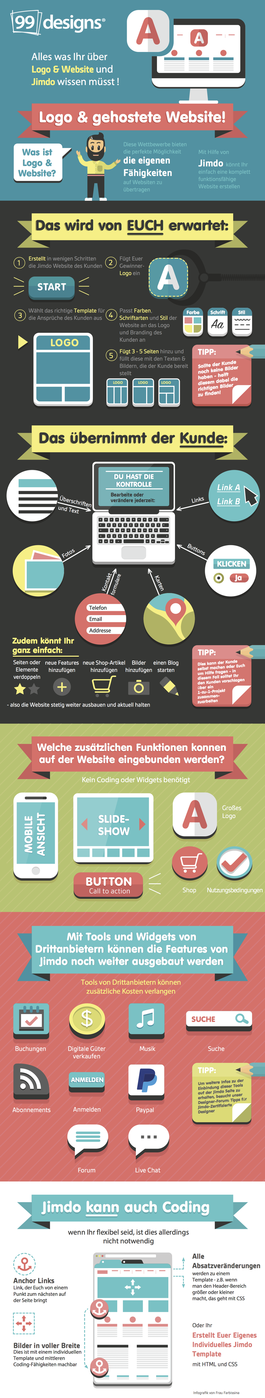 Logo & Website Wettbewerbe mit Jimdo