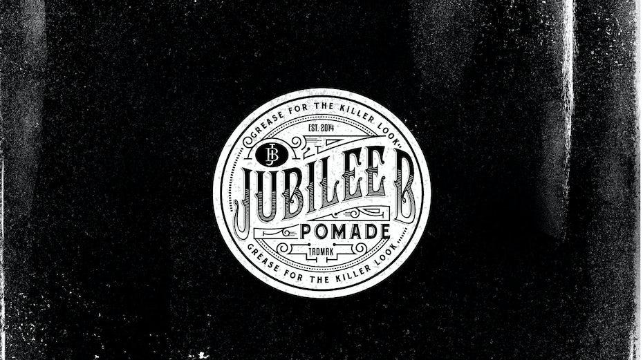 Jubilee Pomade vintage logo design