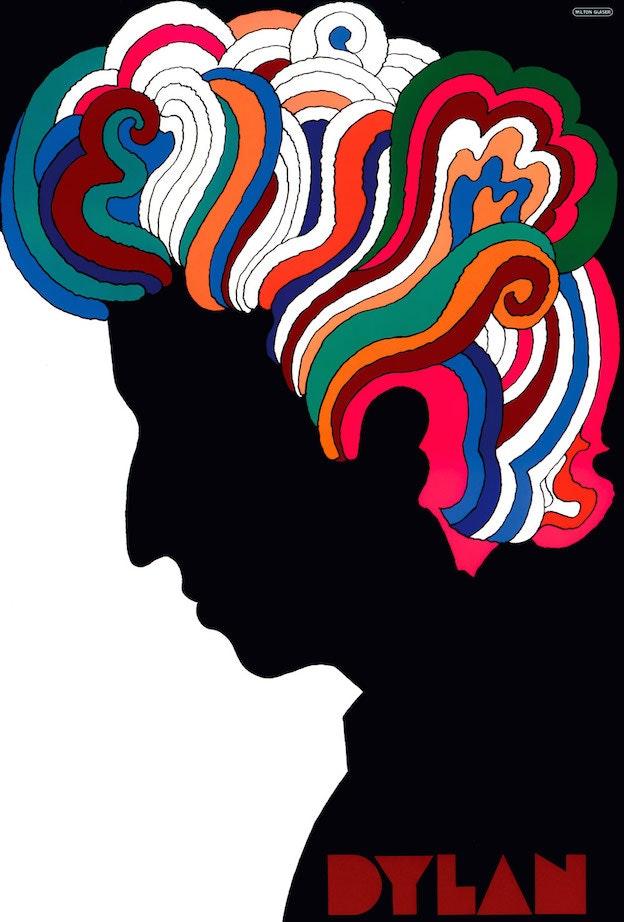 Milton Glaser's Bob Dylan poster