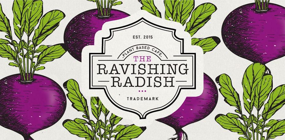 Ravishing Radish vintage logo design
