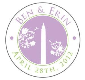 Illustration de mariage Erin & Ben