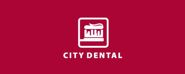 verspieltes Zahnarzt logo