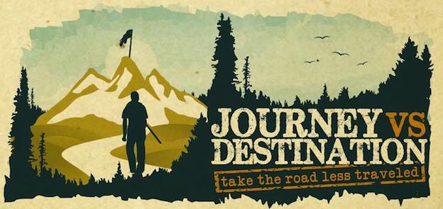 Logo-Design Journey vs Destination von lynzee.artajo