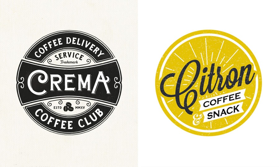 coffee shop badge logo