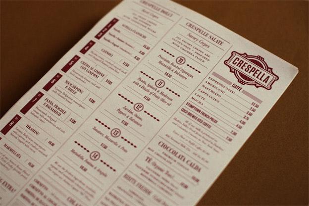 Crespella menu