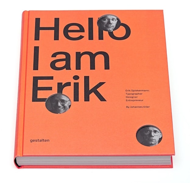 Graphic Design Book: Hello, I am Erik, by Johannes Erier