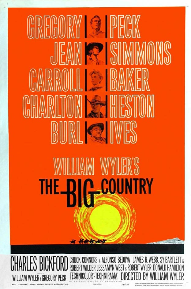 """The Big Country"" Movie Poster Design by Saul Bass"