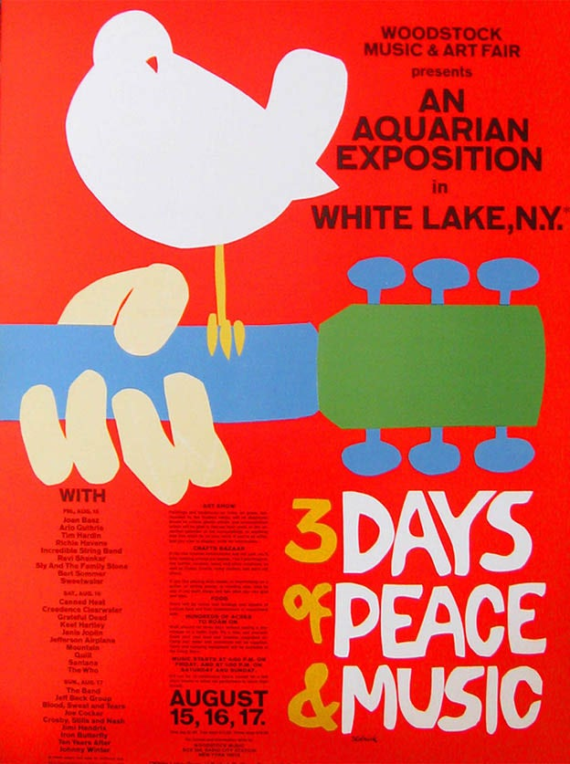 Woodstock Poster by Arnold Skolnick