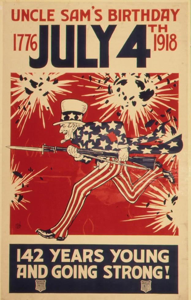 """Uncle Sam's Birthday"" World War I Poster"