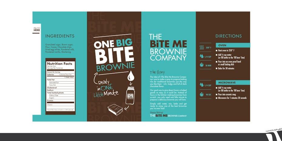 Brownie Label-Entwürfe von NANOSstylz