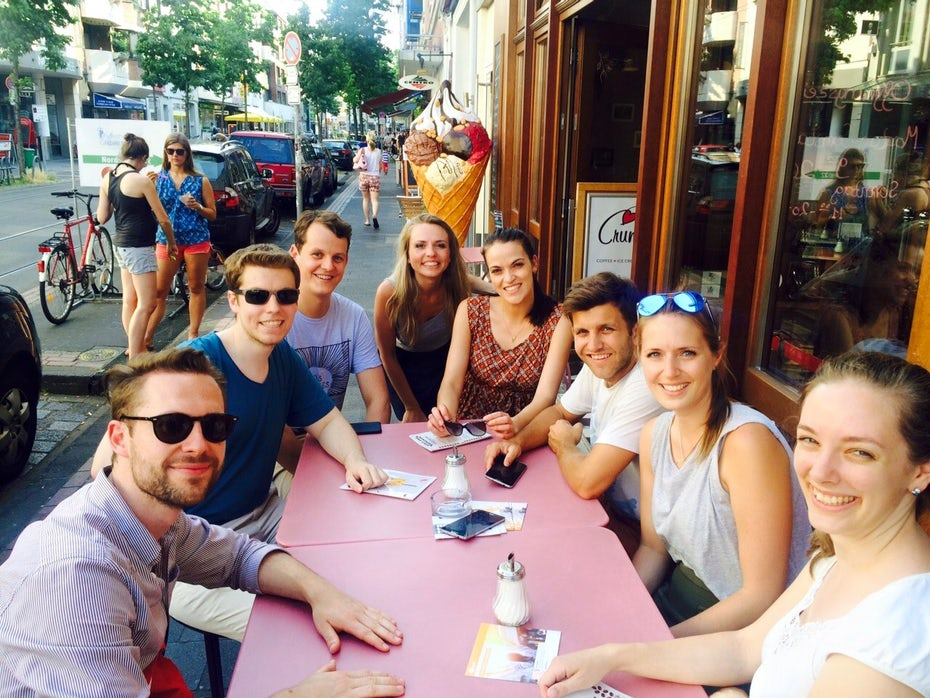 E-Plus Team bei App Promotion in Duesseldorf