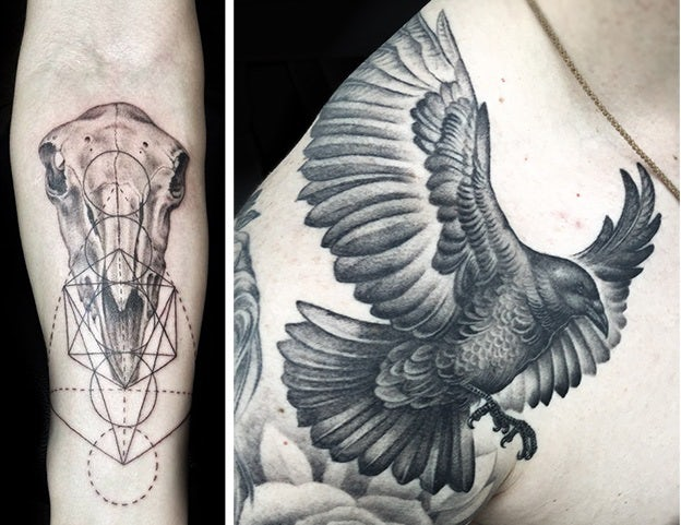 Tattoo-Stile - Schwarz-grau