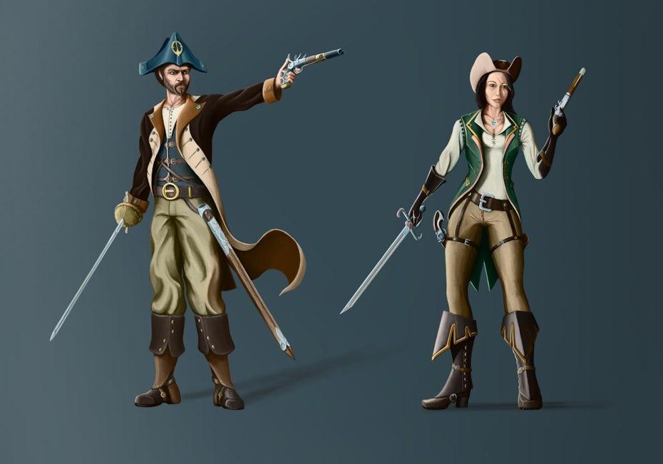 30 piratenfiguren