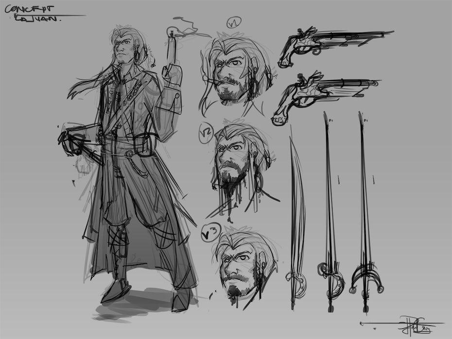 31 piraten scribble