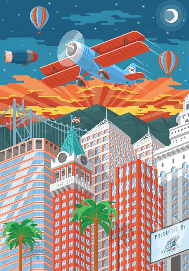 Affiche réalisée par KreatanK pour le concours de poster Oakland