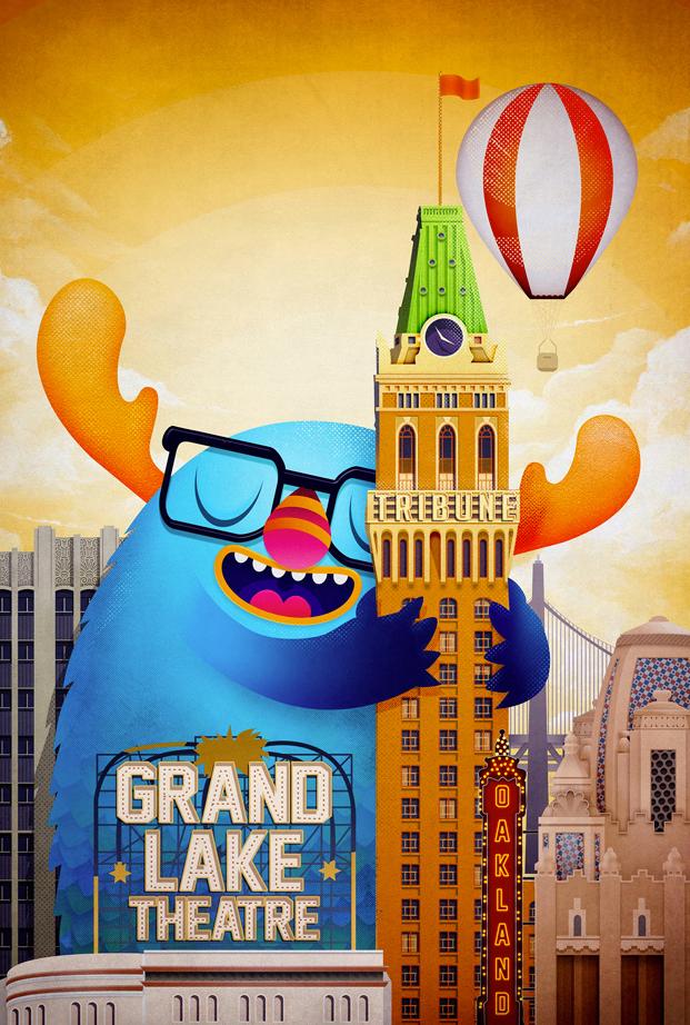 Affiche réalisée par Asael Varas pour le concours de poster Oakland