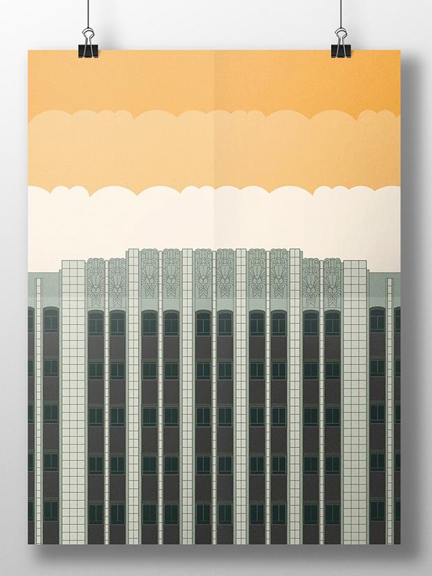 Affiche réalisée par Jimdesigns pour le concours de posters Oakland