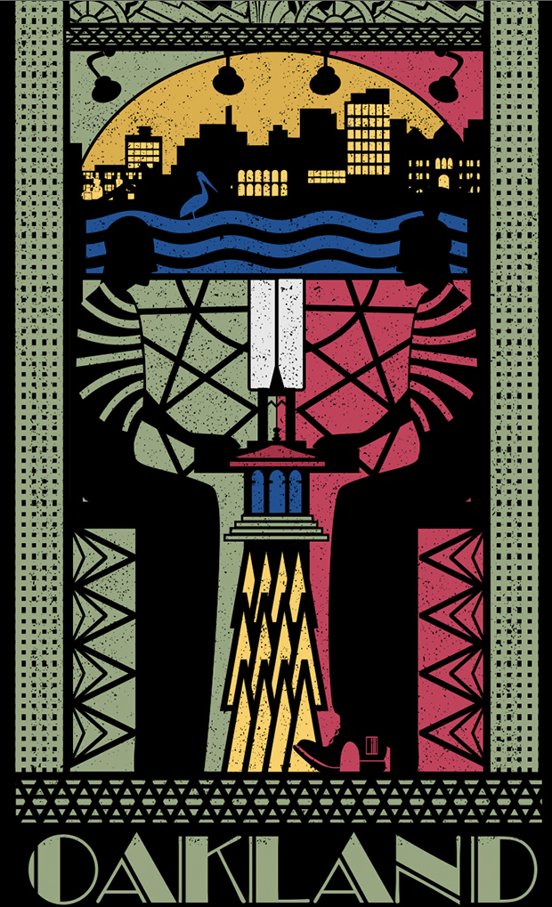 Affiche réalisée par Maciev pour le concours de poster Oakland
