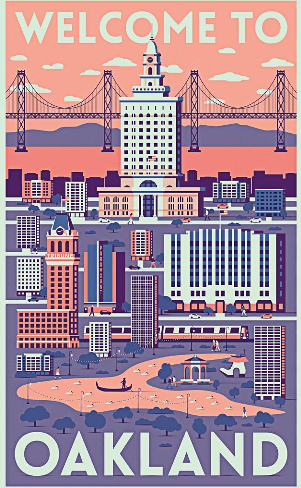 Affiche réalisée par Sasha Radojevic pour le concours de poster Oakland