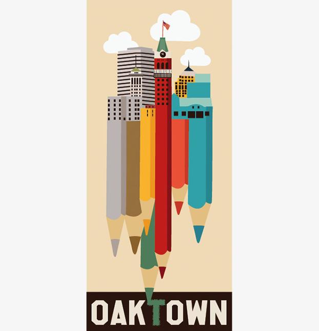 Affiche réalisée par Emanuela pour le concours de poster Oakland