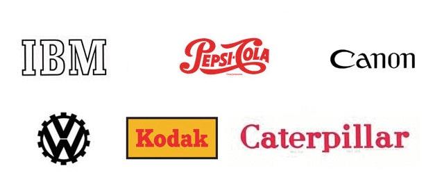 Logo-Designs von 1931 bis 1947