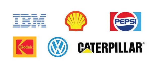 Logo-Designs von 1971 bis 1978 (Caterpillar 1989)