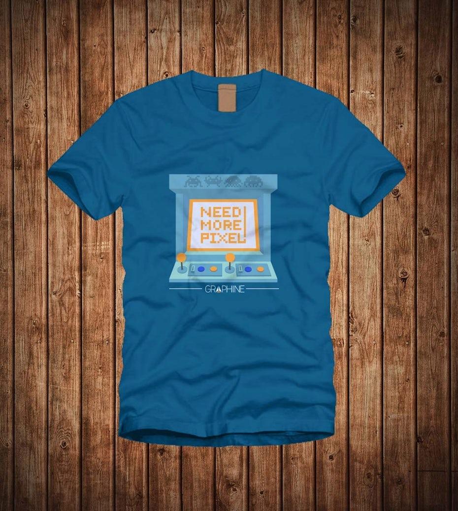 11 t-shirt mit pixeln