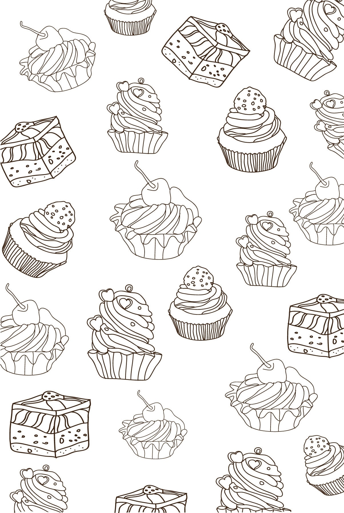 4 malbuch cupcake