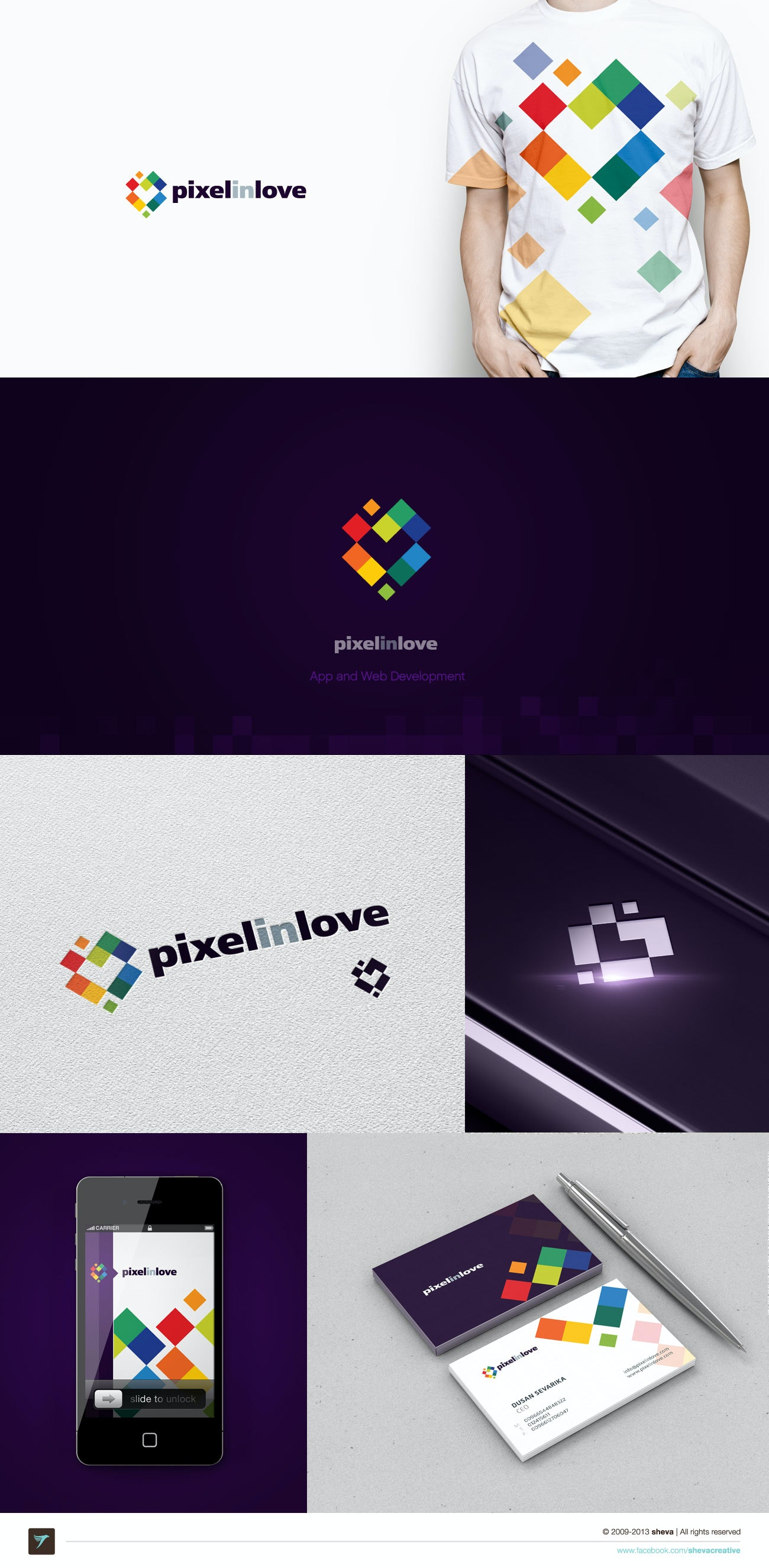 4 pixel love design